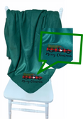 """SIGN LANGUAGE """" I LOVE YOU"""" HAND ON SIDE CHRISTMAS TRUCK FLEECE THROW BLANKET (FOREST GREEN )"""