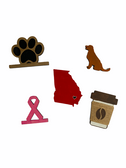 INTERCHANGEABLE VINTAGE TRUCK WITH SEASON WOOD ( PINK RIBBON, DOG, PAW, COFFEE, STATE SETS)