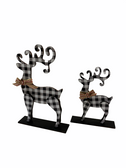STAND DEERS WITH BLACK AND WHITE BUFFALO PLAIN SET