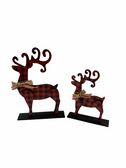 STAND DEERS WITH RED AND WHITE BUFFALO PLAIN SET