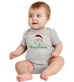 "BABY LAP SHOUDLER CREEPER WITH SIGN LANGUAGE "" I LOVE YOU "" SANTA FACE"