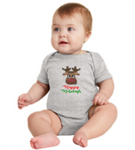 "BABY LAP SHOUDLER CREEPER WITH SIGN LANGUAGE "" I LOVE YOU "" REINDEER"