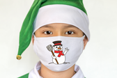 """SIGN LANGUAGE """" I LOVE YOU"""" HAND  FACE MASK ( SNOWMAN FACE)"""