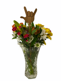 "SIGN LANGUAGE FULL HAND "" I LOVE YOU"" HAND FLOWER TOPPER EACH ( CHOOSE COLOR)  NOT INCLUDE FLOWER AND VASE"