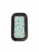 """SIGN LANGUAGE HAND """" I LOVE YOU"""" FOLDABLE MOBILE HOLDER RING RETRACTABLE TURN 360 ( TEAL HANDS/ WHITE BACKGROUND WITH BLACK STAND)"""