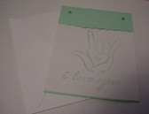 I LOVE YOU card (Lighten Green)