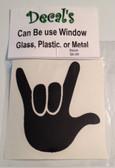 Auto Decals Sticker Window, Large I LOVE YOU Hand (Black)