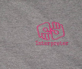 Interpreter Outline hand (Ash & Pink ) T-Shirt Adult