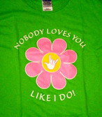 """Daisy Flower with Sign Hand """" I LOVE YOU""""  Adult"""