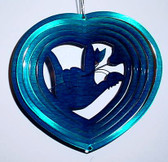 Suncatchers Wind Illusions ILY hand w/rose (Small), Blue 6