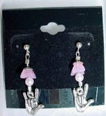 ILY Earrings Glass Bead (Pink)