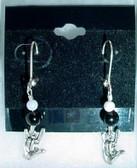 ILY Earrings Glass Bead (Pearl & Black)