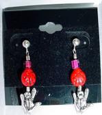 ILY Earrings Glass Bead (Lady Bug)