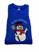 Sweat Shirt Embroidery Snowman with ILY (GREEN) Adult