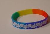 I LOVE YOU Awareness Bracelet Silicone (Rainbow)