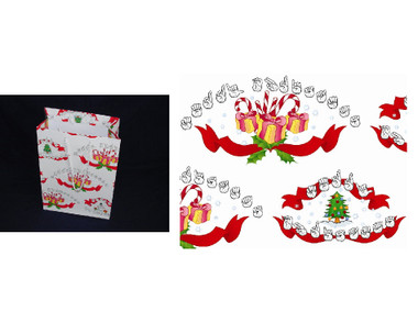 merry christmas gift bag w sign language large image 1