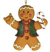 Gingerbread Man sign I LOVE YOU Ornament