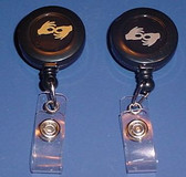 Badge Reel, Interpreter, (Black w/Gold or Silver)