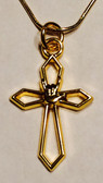 """Cross with I LOVE YOU hand  Gold Necklace 16 """" to 30"""""""