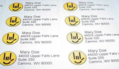 Custom Mailing Labels with Smiley