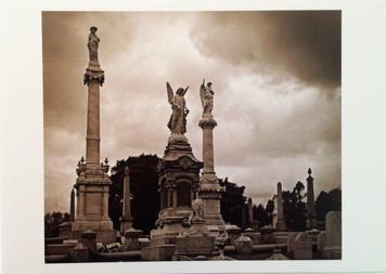 Three Statues Postcard