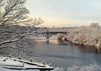 Winter River Postcard