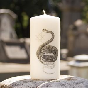 Snake Pillar Candle