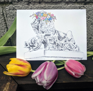Spring Lion Card