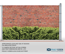 211 Series Pre-Printed - Brick w/ Hedge (25' or 50' Rolls)