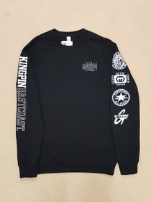 KINGPIN IRON LION ICON CREW BLACK/WHITE