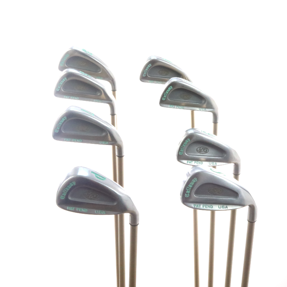Callaway S2h2 Iron Set Graphite Shaft Aldila Gems Ladies Flex 32644a