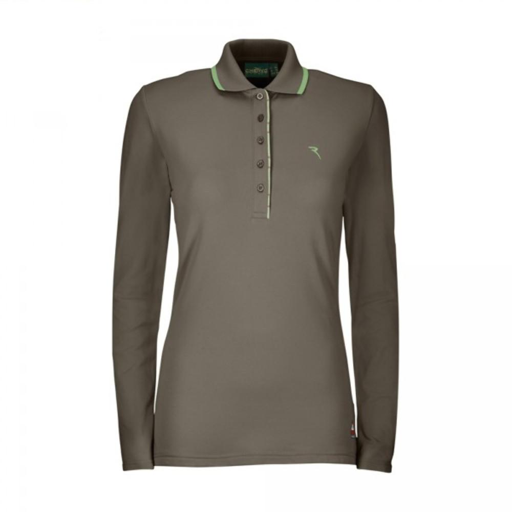 fca9e80edb4dea Chervo womens polo ajmone brown long sleeve ladies golf apparel jpg  1000x1000 Brown ladies golf tops
