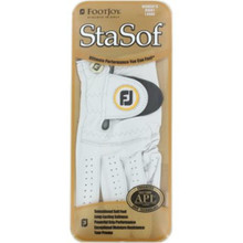 NEW!  2-Pack FootJoy StaSof Women's Right Large Pearl White Golf Gloves  GL-001