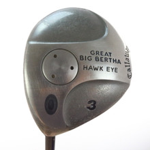Callaway Great Big Bertha Hawk Eye 3 Wood Graphite Firm Flex Left-Handed 51432A