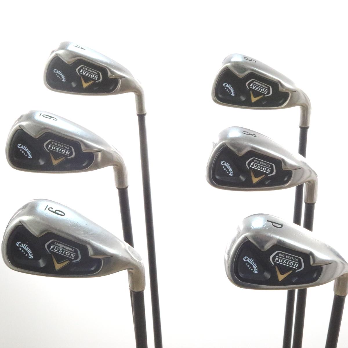 Callaway Golf Big Bertha Fusion Iron Set Aldila VX Graphite Regular Flex  51810A