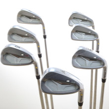 Ping S55 Iron Set 4-W Yellow Dot KBS Steel Shaft Stiff Flex Right-Handed 52615G