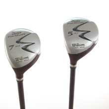 Wilson FatShaft Deep Red Wood Set 5 & 7 Graphite Stiff Left-Handed 56333G
