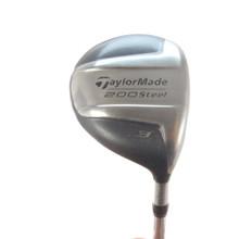 TaylorMade 200 Steel 3 Fairway Wood 15 Degrees Steel S-90 Stiff Flex 57454G