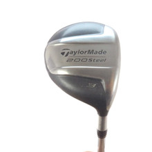 TaylorMade 200 Steel 3 Fairway Wood 15 Degrees Steel S-90 Stiff Flex 57454G