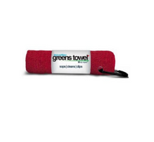 "Microfiber Greens Towel Cardinal Red perfect 15""x15"" w/ carabiner clip GT-16405"