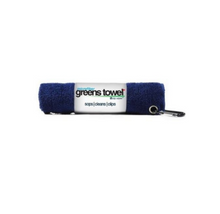 "Microfiber Greens Towel Navy Blue perfect 15""x15"" with carabiner clip GT-16415"