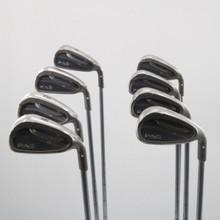 Ping G25 4-W,U Iron Set White Dot Steel Shaft CFS Stiff Flex Right-Handed 61705A