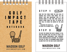 MADSON GOLF Impact Tape Recorder 25-page Notebook