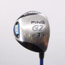 PING G2 3 Fairway Wood 14 Deg Black Dot ProLaunch Blue 65S Stiff Flex 70999W