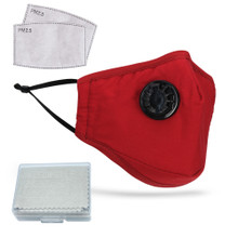 MADSON GOLF Face Mask with Cooling Valve includes PM2.5 Filters & Anti Fog Cloth, Unisex
