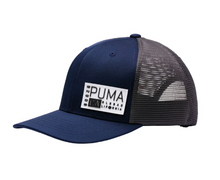 PUMA Golf CA Carlsbad Trucker Snapback Cap Hat - Peacoat Blue HAT-CO-05