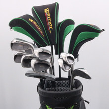Warrior Golf 14 pc Golf Club Set with Golf Bag Uniflex Right-Handed 72199G