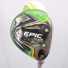 2019 Callaway EPIC Flash 3 Wood 15 Deg Even Flow Graphite Stiff Flex 73381D