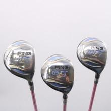 PING G5L 5, 7, 9 Fairway Wood Set 22, 26, 30 Aldila NV 55-L Ladies Flex 74283W