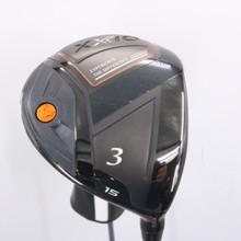 XXIO 10 X Black 3 Wood 15 Degrees AX-1 Stiff Flex Right-Handed Headcover 78108D